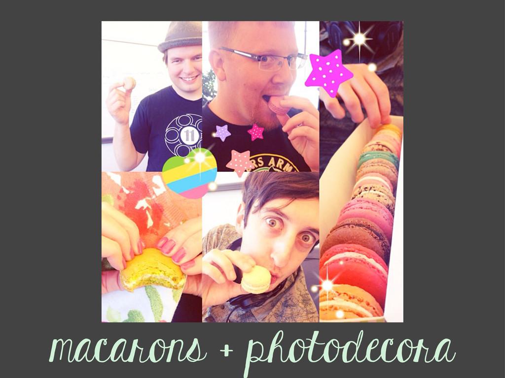 Title Text macarons + photodecora