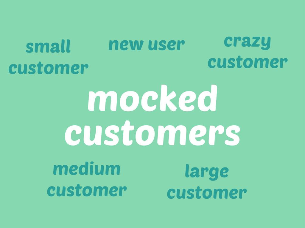 mocked customers new user small customer medium...