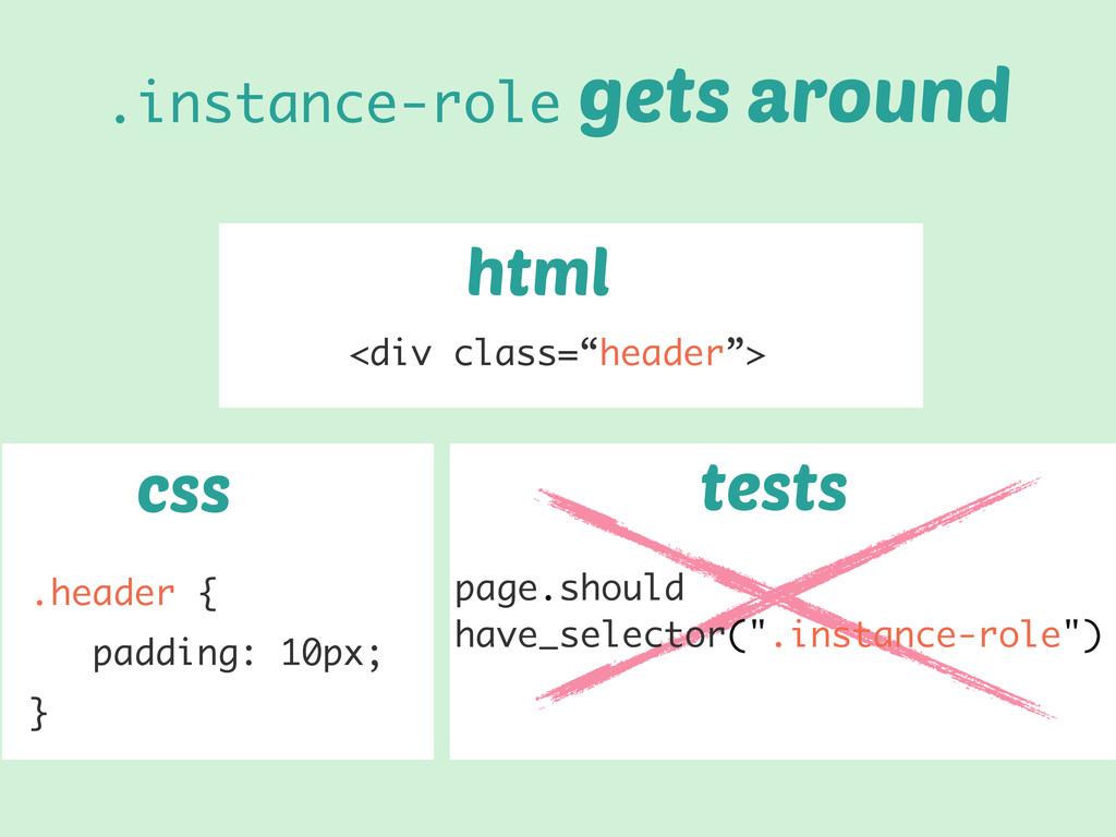 """html css tests <div class=""""header""""> .header { p..."""
