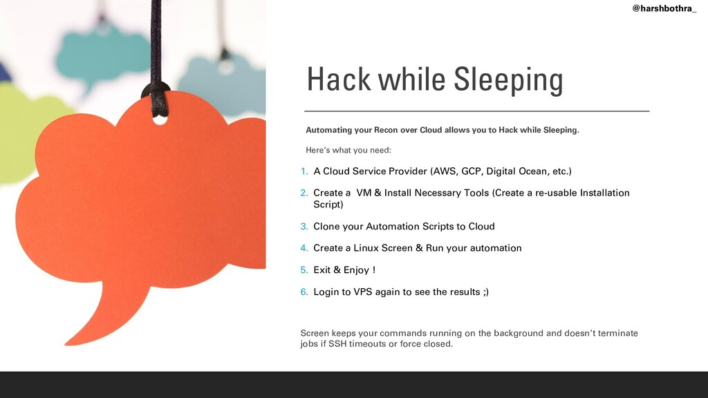 Hack while Sleeping Automating your Recon over ...