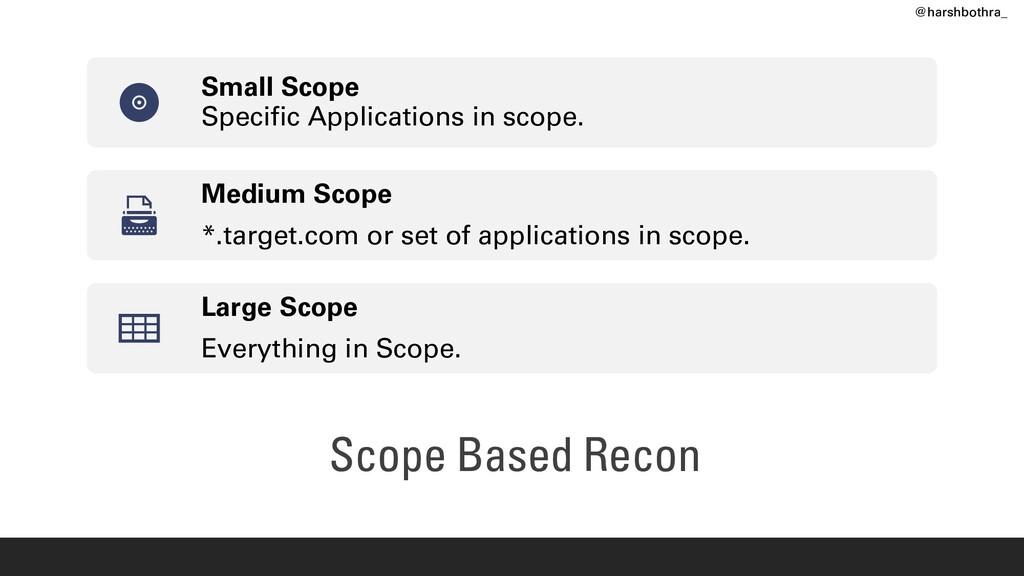 Scope Based Recon Small Scope Specific Applicat...