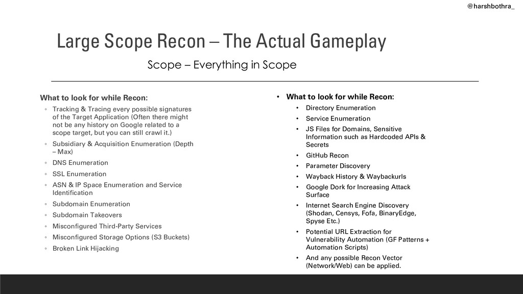 Large Scope Recon – The Actual Gameplay What to...