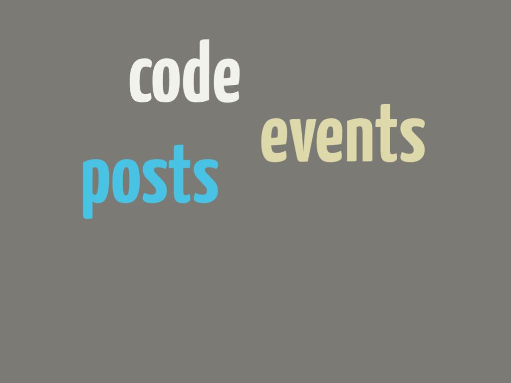 code events posts