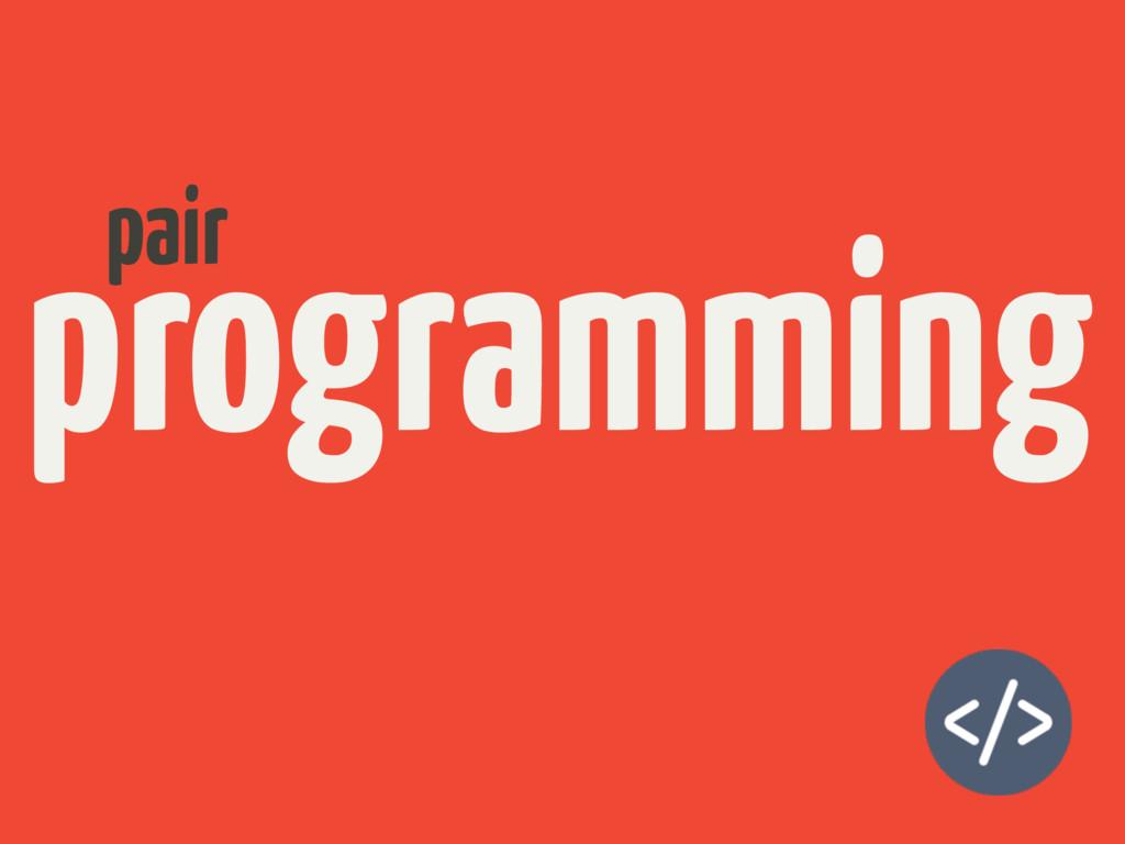 programming pair