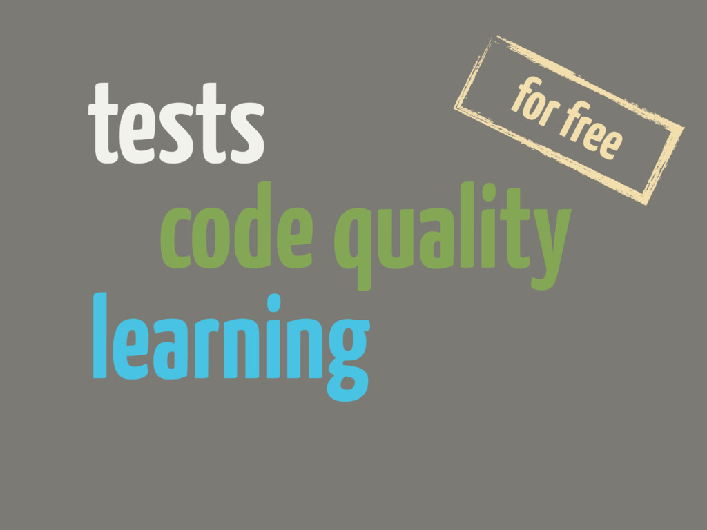 tests code quality learning for free