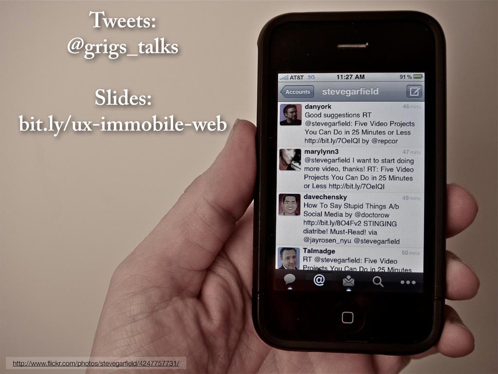 Tweets: @grigs_talks Slides: bit.ly/ux-immobile...