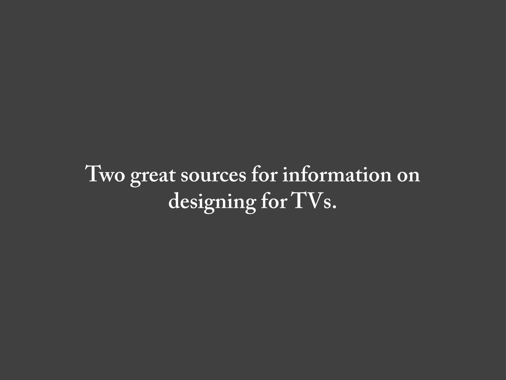 Two great sources for information on designing ...