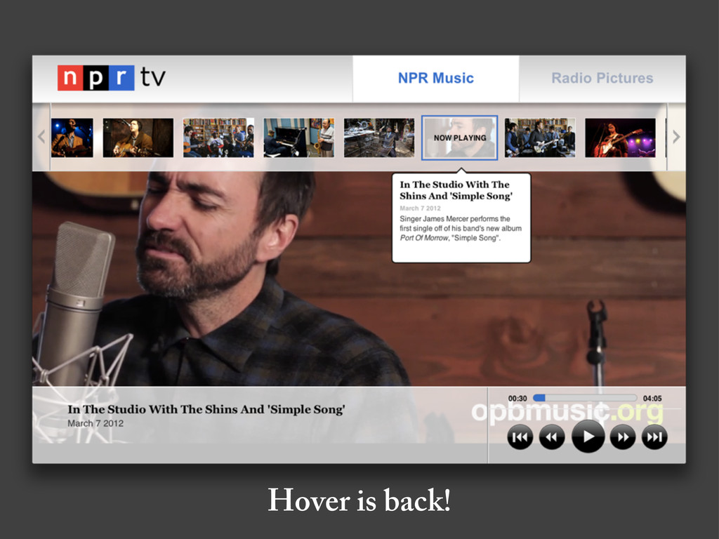 Hover is back!