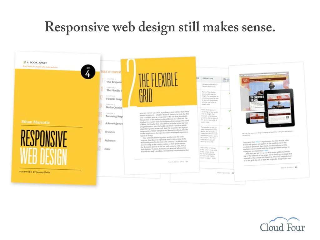 Responsive web design still makes sense.
