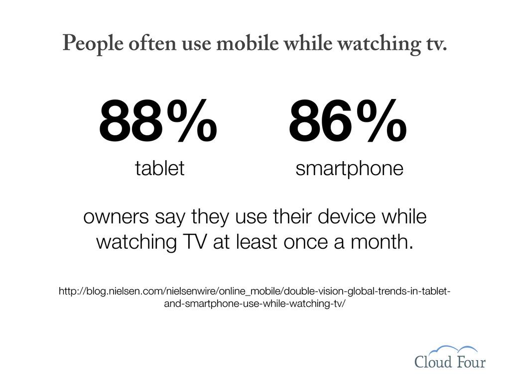 88% tablet 86% smartphone People often use mobi...