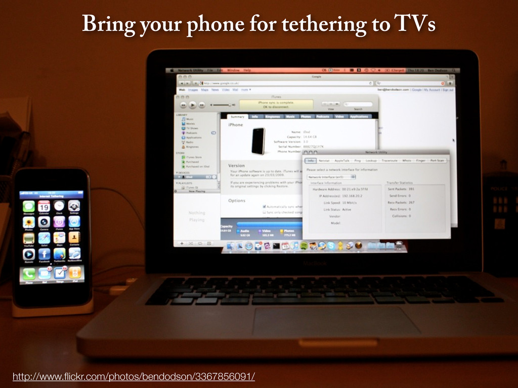 Bring your phone for tethering to TVs http://ww...