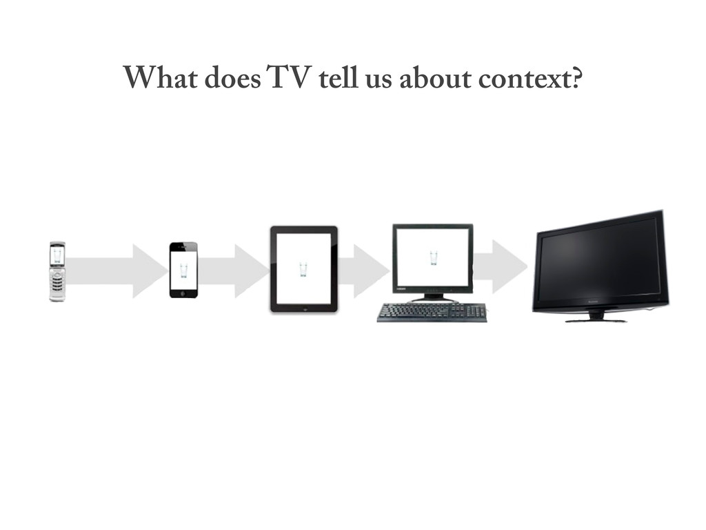 What does TV tell us about context?