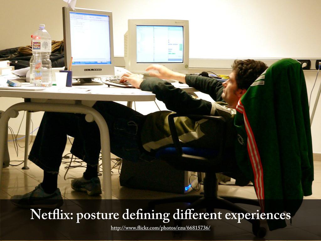 Net ix: posture de ning different experiences ht...