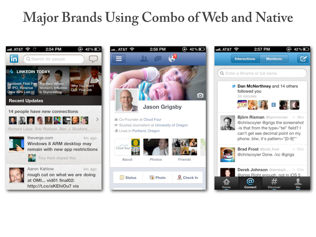 Major Brands Using Combo of Web and Native