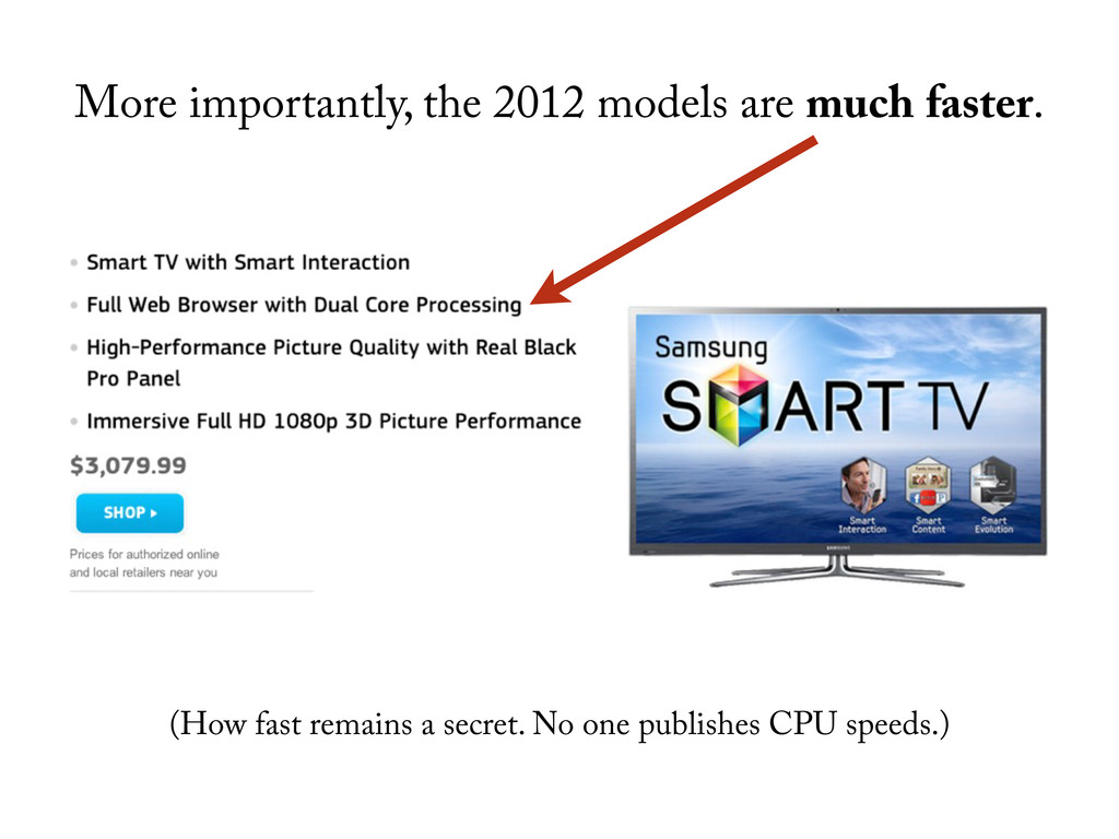 More importantly, the 2012 models are much fast...