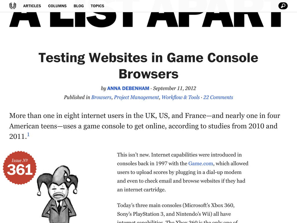 Testing Websites in Game Console Browsers by#AN...