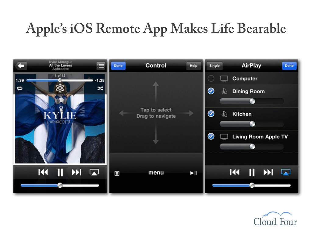 Apple's iOS Remote App Makes Life Bearable