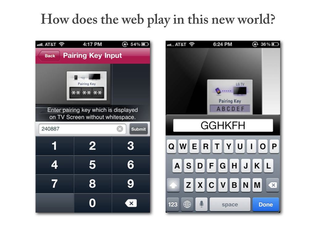 How does the web play in this new world?