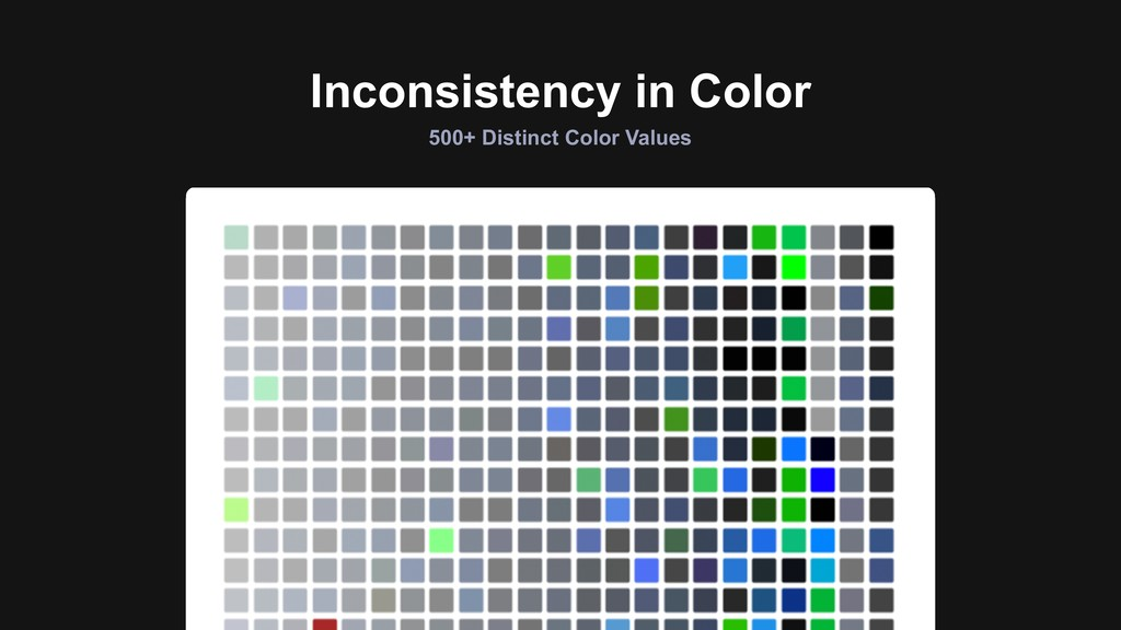 Inconsistency in Color 500+ Distinct Color Valu...