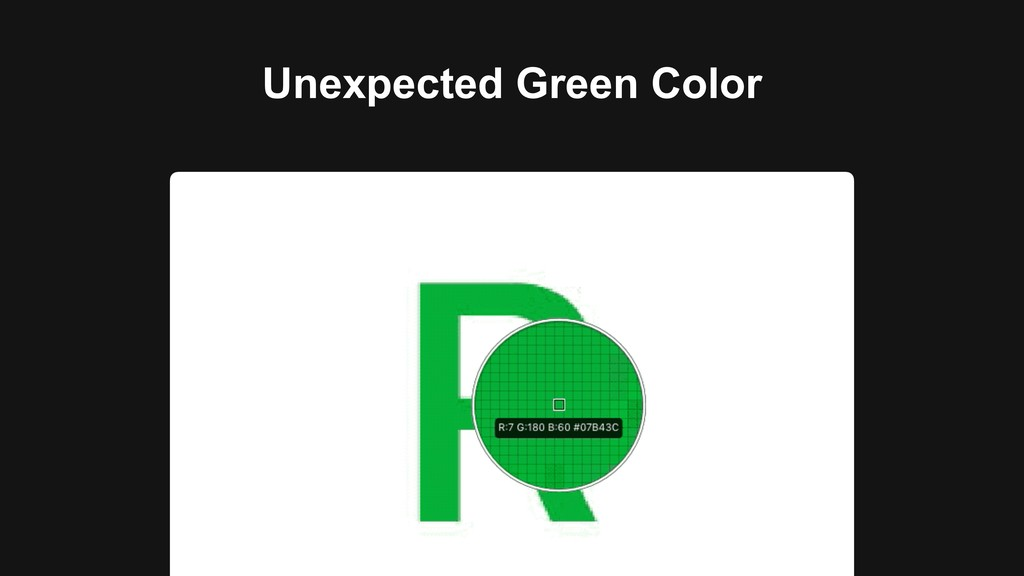 Unexpected Green Color