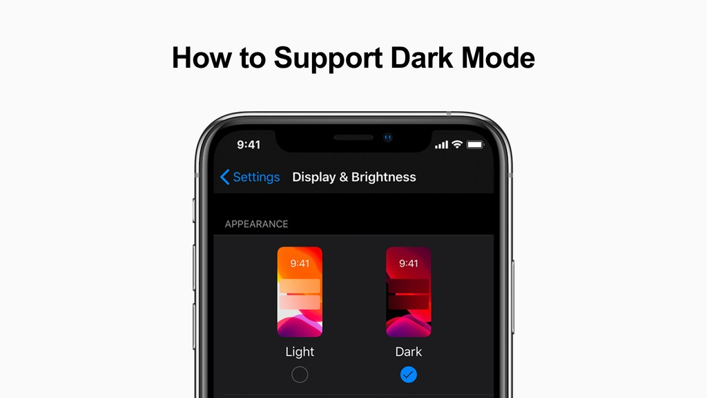 How to Support Dark Mode