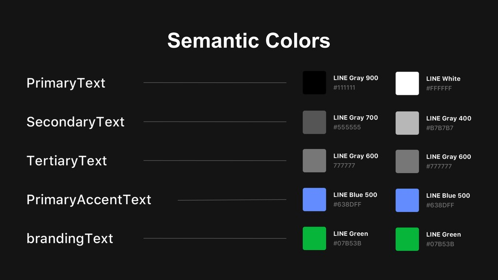 Semantic Colors
