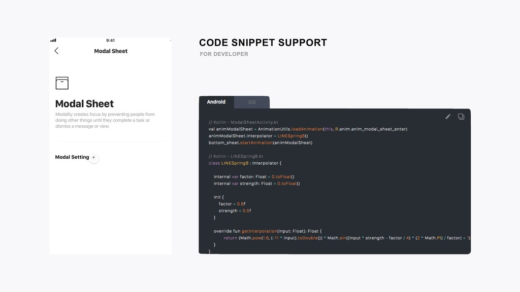 CODE SNIPPET SUPPORT FOR DEVELOPER