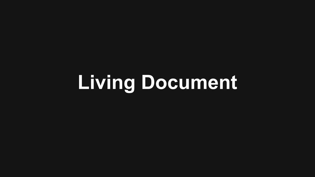 Living Document