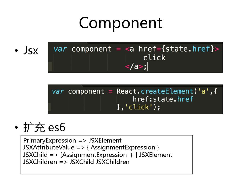 Component  • Jsx  • 扩充 es6  PrimaryEx...