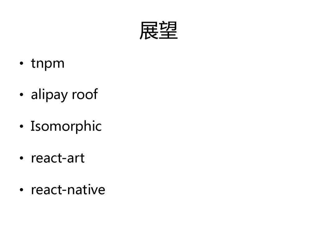 展望  • tnpm  • alipay roof  • Isomorp...