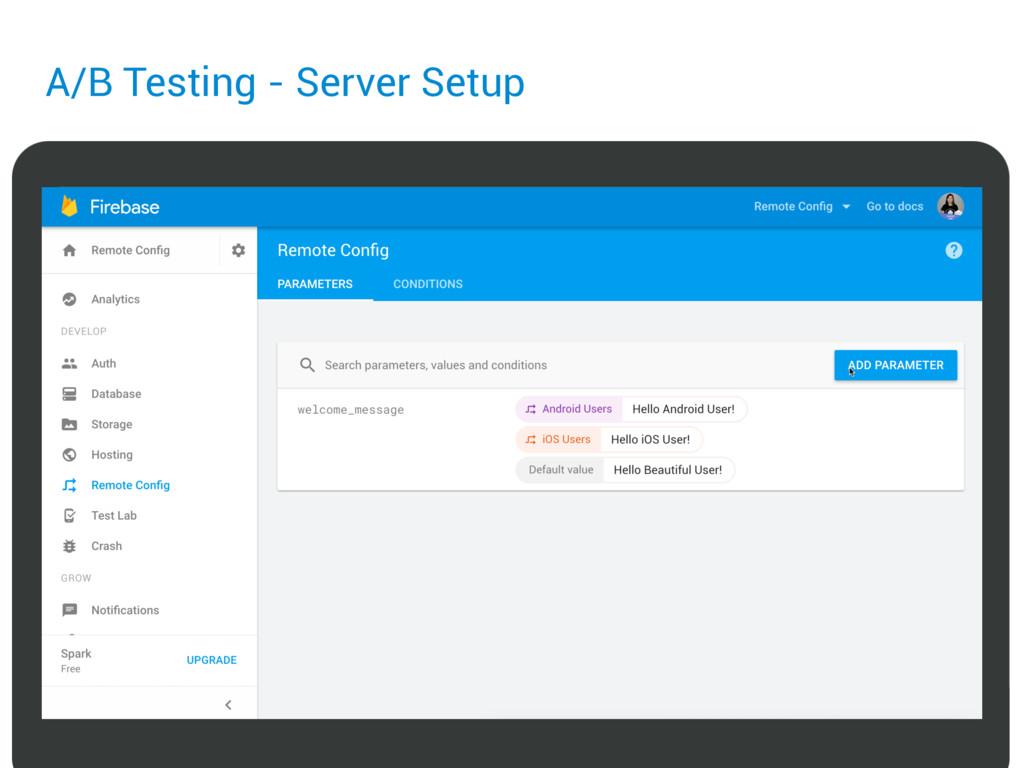 A/B Testing - Server Setup
