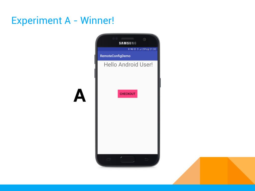 Experiment A - Winner! A