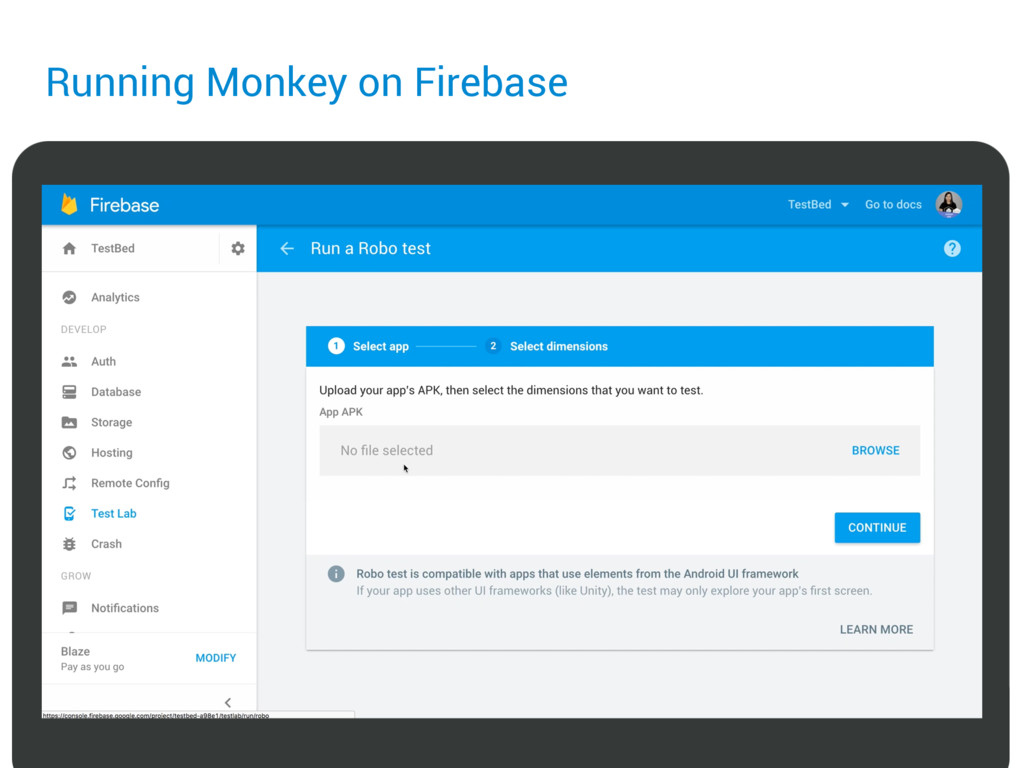 Running Monkey on Firebase