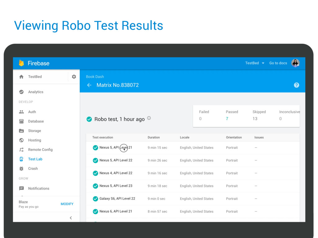 Viewing Robo Test Results