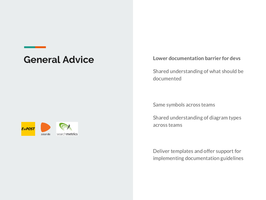 General Advice Lower documentation barrier for ...