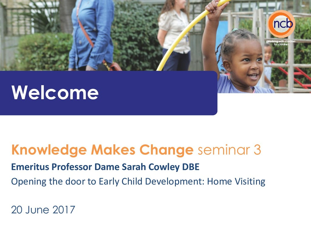 Welcome Knowledge Makes Change seminar 3 Emerit...