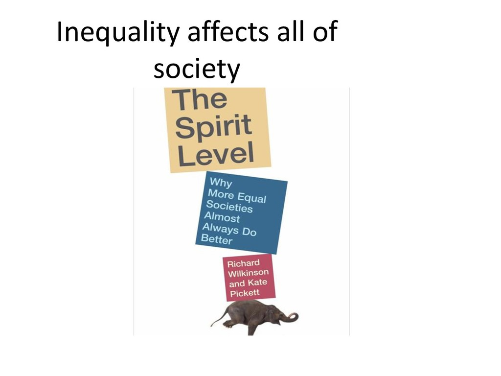 Inequality affects all of society