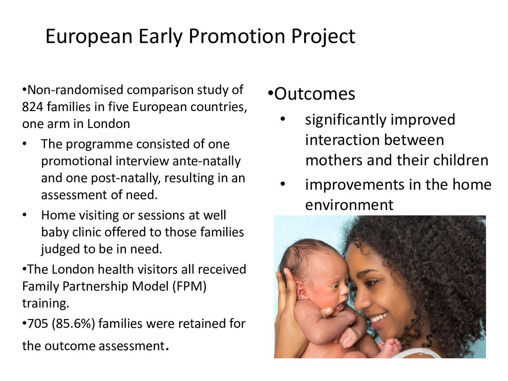 European Early Promotion Project •Non-randomise...