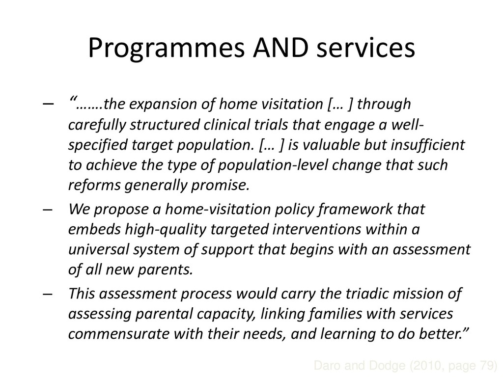 "Programmes AND services – ""…….the expansion of ..."