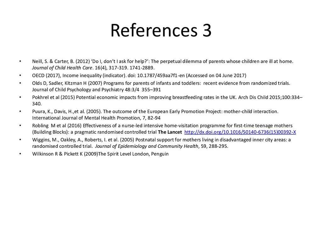 References 3 • Neill, S. & Carter, B. (2012) 'D...