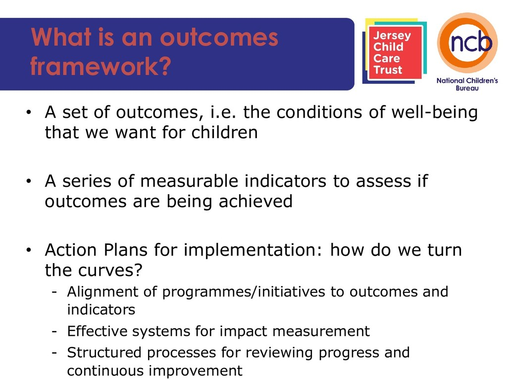 What is an outcomes framework? • A set of outco...