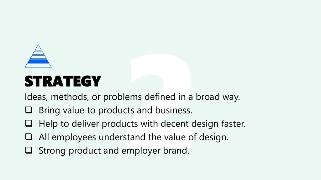 STRATEGY Ideas, methods, or problems defined in...