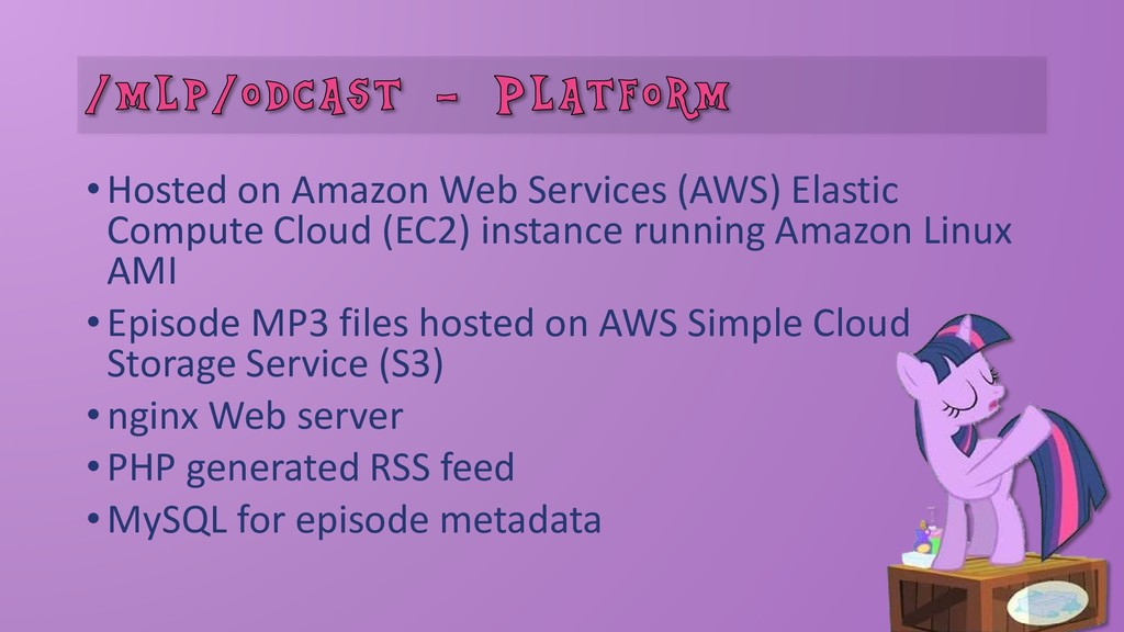 •Hosted on Amazon Web Services (AWS) Elastic Co...