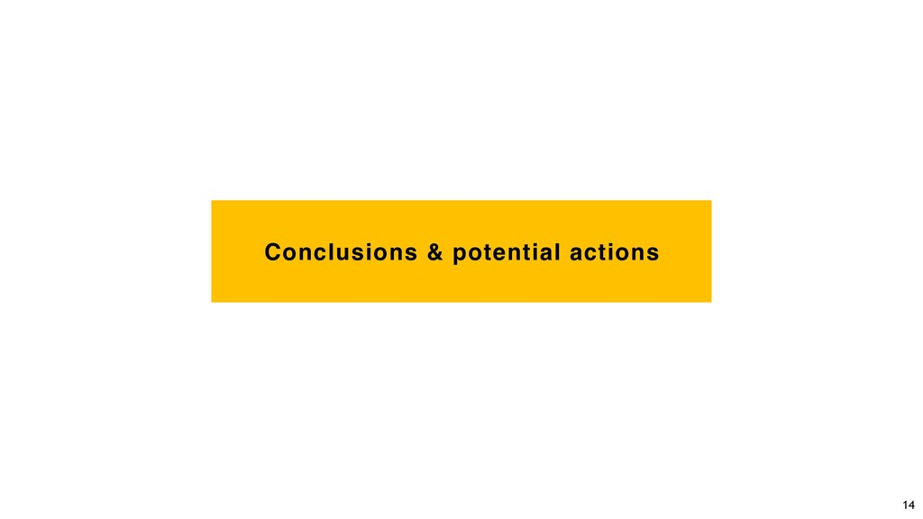 Conclusions & potential actions 14