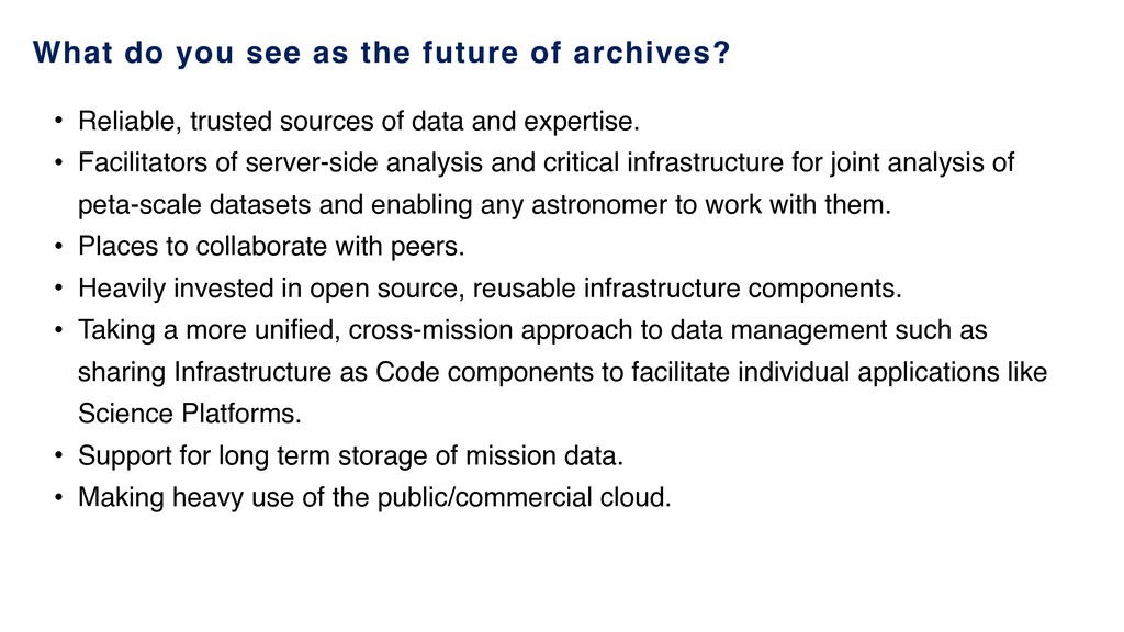 What do you see as the future of archives? • Re...