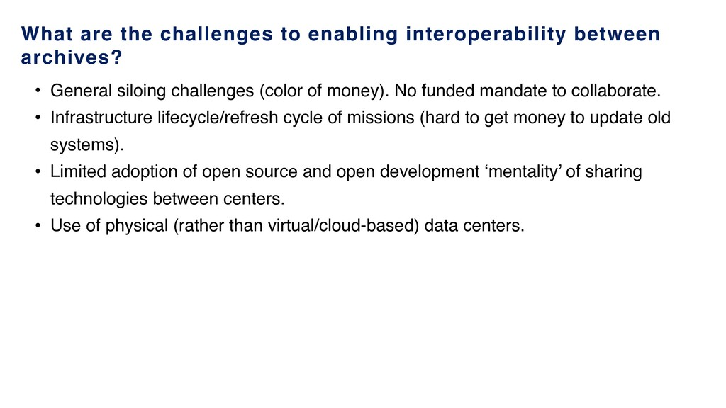 What are the challenges to enabling interoperab...