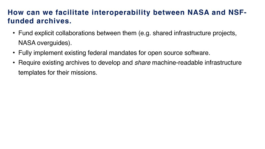 How can we facilitate interoperability between ...