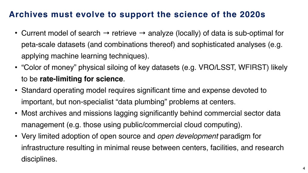 Archives must evolve to support the science of ...