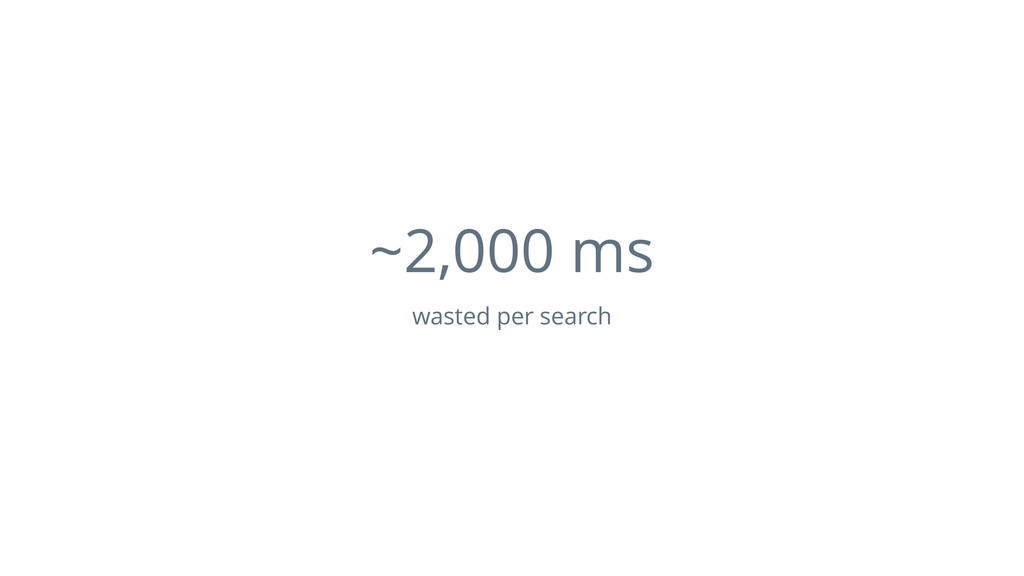 ~2,000 ms wasted per search