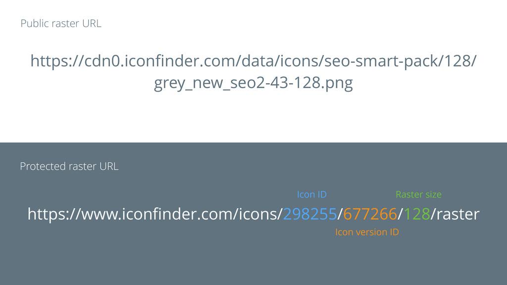 Icon ID Icon version ID Raster size https://www...